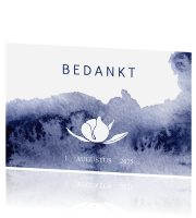 Bedankkaart trouwhuisstijl blue wedding