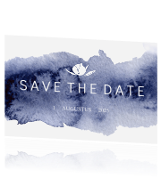 Save the date kaartje huisstijl blue wedding