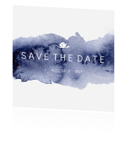 Save the date kaartje vierkant huisstijl blue wedding