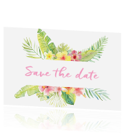 Save the date kaart huisstijl Tropical Summer