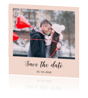 Save the date enkel huisstijl modern peach grey