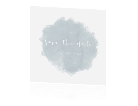 Save the date trouwhuisstijl fresh eucalyptus